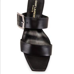 Saint Laurent Jodie Leather Slide Sandal